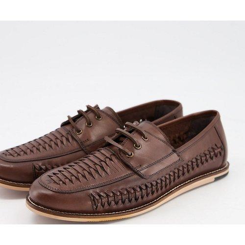 Pointure large - Chaussures en cuir tressé à lacets - Silver Street - Modalova