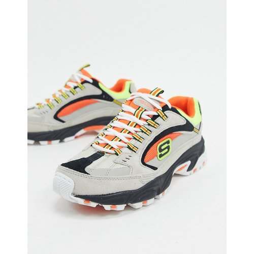 Stamina cutback - Baskets - Orange et gris multicolore - Skechers - Modalova