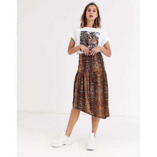 Jupe taille basse avec imprimé peau de serpent - Soaked in Luxury - Modalova