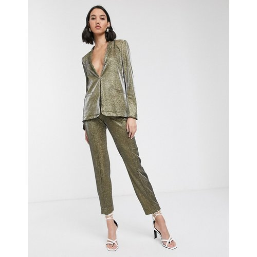 Pantalon de costume - métallisé - Soaked in Luxury - Modalova