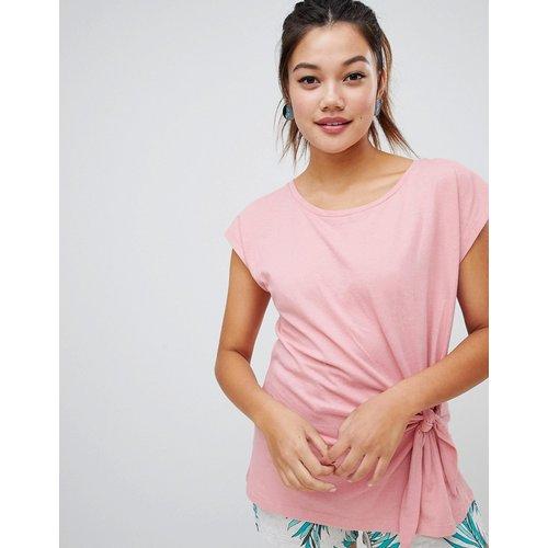 T-shirt noué sur le devant - Soaked in Luxury - Modalova