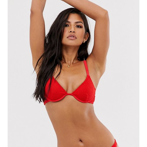 Anna - Haut de bikini effet froissé à armatures - - Exclusivité - Sole East By Onia - Modalova