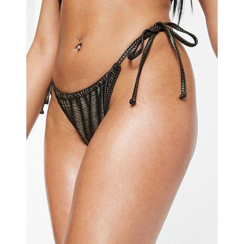 Bas de bikini scintillant - Doré - South Beach - Modalova