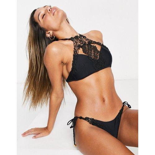 Bikini bordé de dentelle à encolure haute - South Beach - Modalova