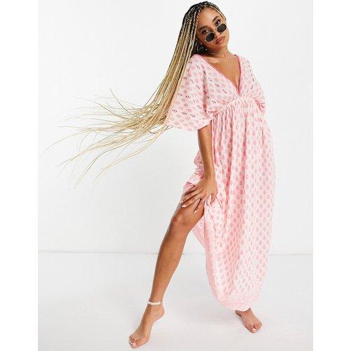Robe de plage à manches évasées - et rose - South Beach - Modalova
