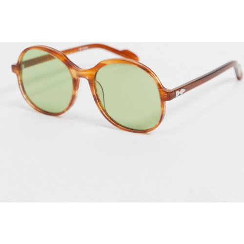 Cut Twenty - Lunettes de soleil rondes oversize à verres verts - Écaille de tortue - Spitfire - Modalova
