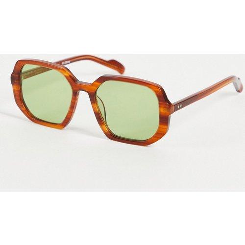 Cut Twenty Nine - Lunettes de soleil carrées avec verres verts - Écaille de tortue fini brossé - Spitfire - Modalova