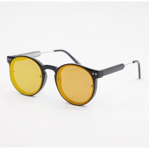 Post Punk - Lunettes de soleil unisexes avec verres miroir rouges et monture ronde - Spitfire - Modalova