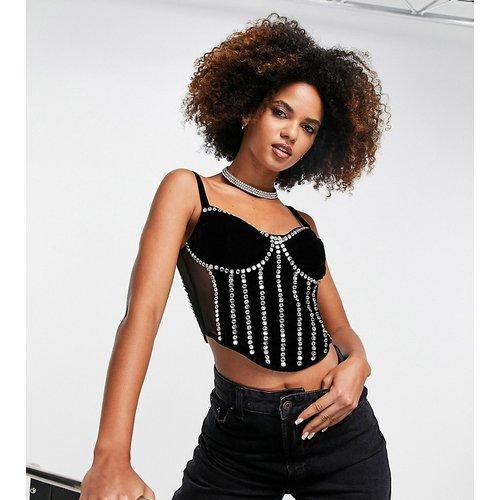 Exclusivité - Top ornementé style corset - et argent - Starlet - Modalova