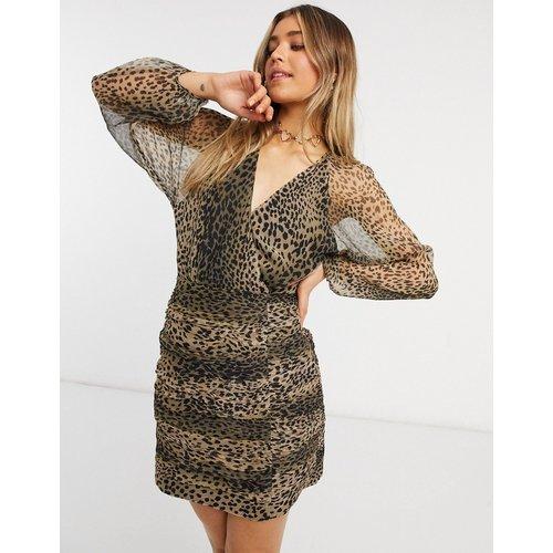 New Light - Robe courte à manches longues et motif léopard - Stevie May - Modalova