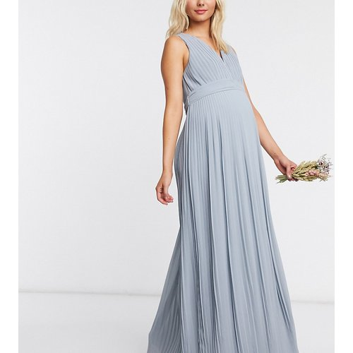- Robe longue sans manches plissée pour demoiselle d'honneur - cendré - TFNC Maternity - Modalova