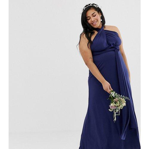 Robe longue de demoiselle d'honneur multiposition en exclusivité - Bleu marine - TFNC Plus - Modalova