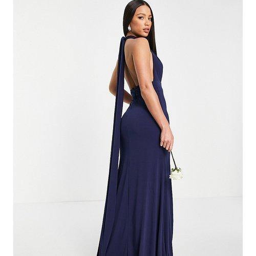 Robe longue multiposition de demoiselle d'honneur - Bleu - TFNC Tall - Modalova