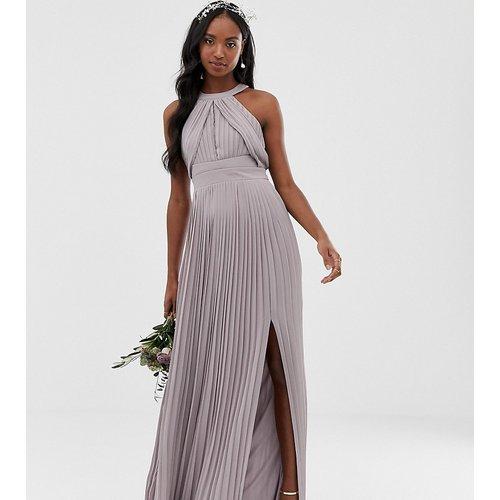 Robe longue plissée pour demoiselle d'honneur en exclusivité - TFNC Tall - Modalova