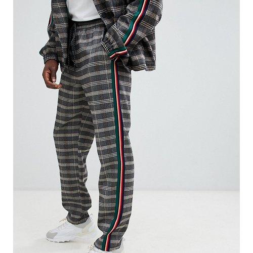 Pantalon à carreaux avec bandes latérales - The New County - Modalova