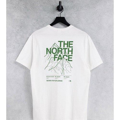 Exclusivité ASOS - T-shirt à imprimé montagne - The North Face - Modalova