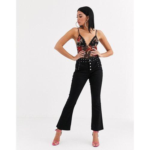 Pantalon bootcut cloutée - Noir - Tiger Mist - Modalova