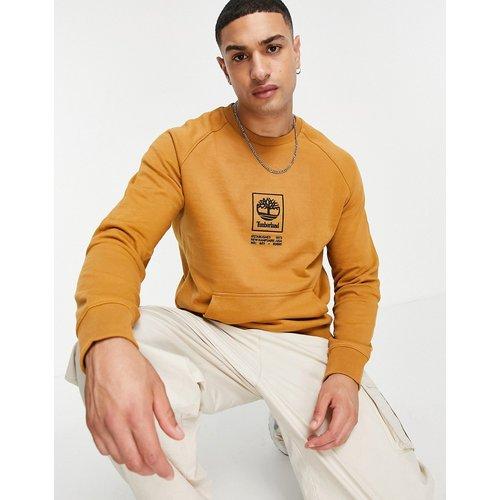 Sweat-shirt épais avec logo empilé - Fauve blé - Timberland - Modalova