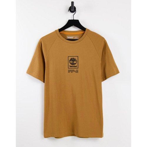 T-shirt épais à logo effet superposé - Fauve blé - Timberland - Modalova