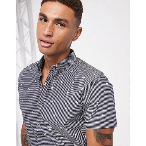 Chemise imprimée à manches courtes - Bleu marine - Tom Tailor - Modalova