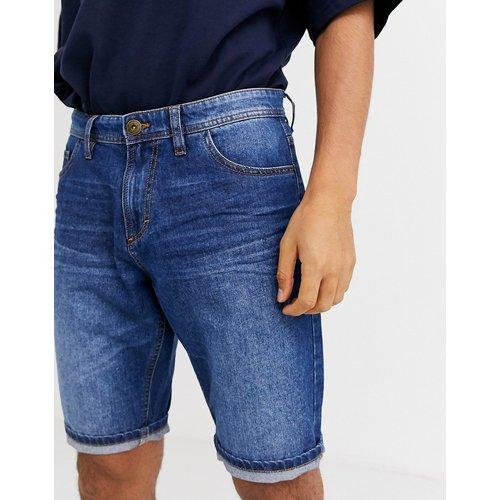 Short en jean à 5 poches - Taupe délavé moyen - Tom Tailor - Modalova