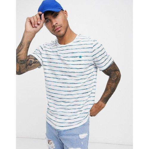 T-shirt à rayures teintées - Bleu marine - Tom Tailor - Modalova