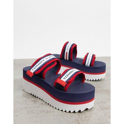 Chaussures plateformes chunky à bandes - Bleu marine - Tommy Hilfiger - Modalova
