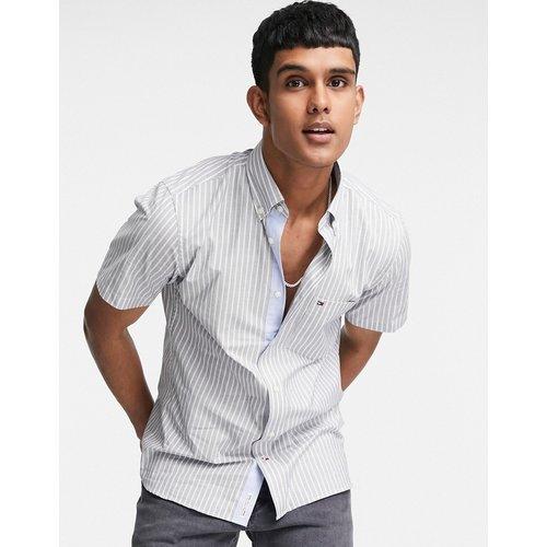 Chemise à manches courtes en tissu rayé doux - Bleu - Tommy Hilfiger - Modalova