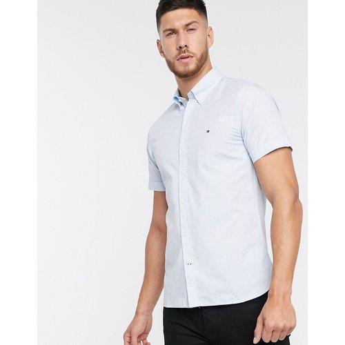 Chemise ajustée à manches courtes et petit motif - Tommy Hilfiger - Modalova