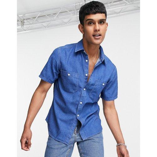 Chemise manches courtes en jean - délavé moyen - Tommy Hilfiger - Modalova