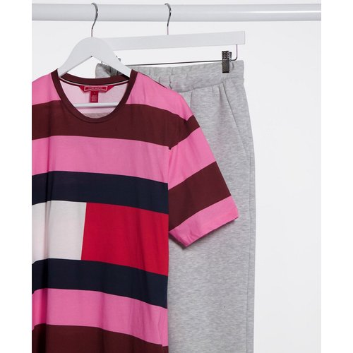Collections - T-shirt à rayures style rugby - Rose - Tommy Hilfiger - Modalova