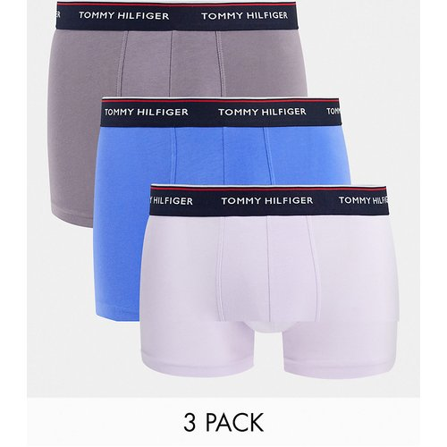 Lot de 3 boxers avec ceinture à logo - Bleu/gris/crème - Tommy Hilfiger - Modalova