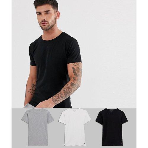 Lot de 3 t-shirts ras de cou confort stretch coupe classique - Tommy Hilfiger - Modalova