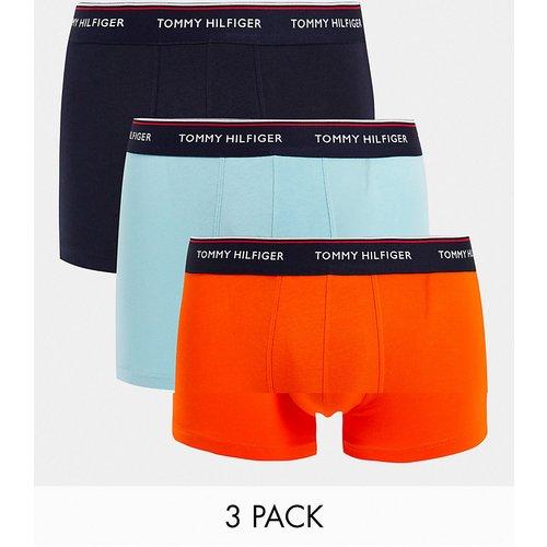 Lot de 3boxers à taille griffée - Orange/noir/bleu - Tommy Hilfiger - Modalova
