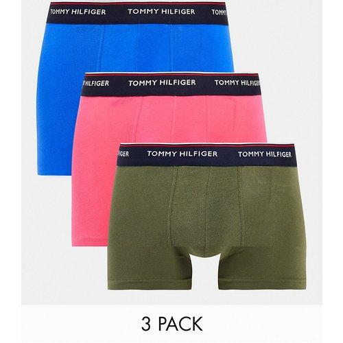 Lot de 3boxers avec taille à logo - Bleu/rose/vert olive - Tommy Hilfiger - Modalova
