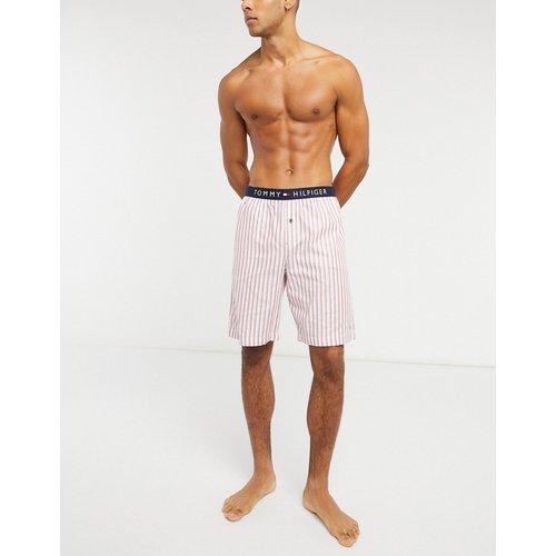 Short de pyjama à rayures tissées - Tommy Hilfiger - Modalova