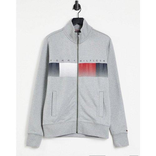 Sweat-shirt zippé avec bande logo sur le devant - clair - Tommy Hilfiger - Modalova