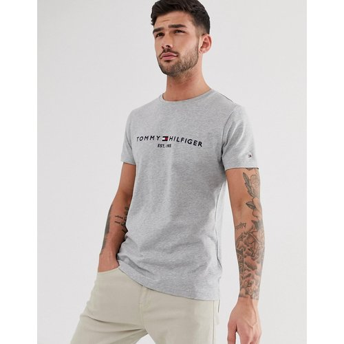 T-shirt à logo drapeau brodé - chiné - Tommy Hilfiger - Modalova