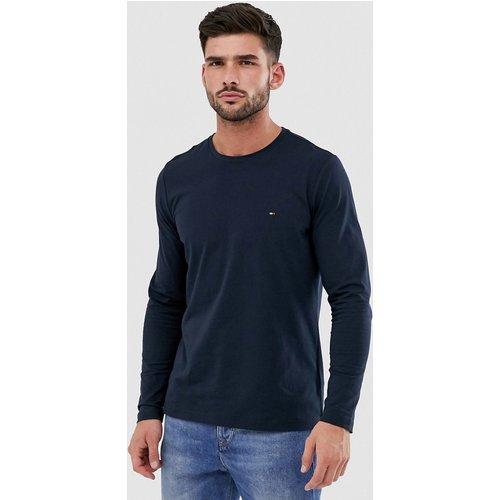 T-shirt à manches longues classique coupe slim avec logo - Bleu - Tommy Hilfiger - Modalova