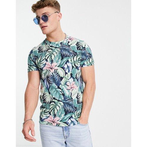 T-shirt avec imprimé fleuri sur l'ensemble - Tommy Hilfiger - Modalova