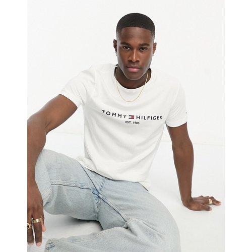 T-shirt avec logo drapeau brodé - Tommy Hilfiger - Modalova