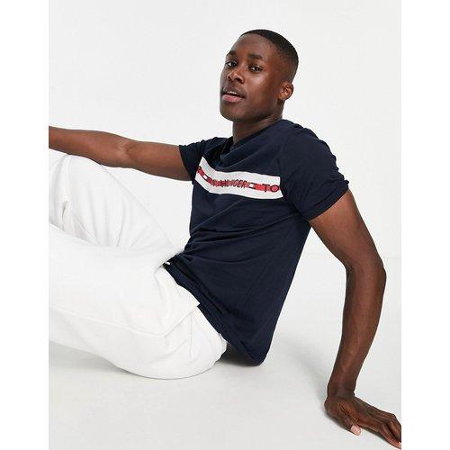 T-shirt confort avec bande griffée sur le côté - Bleu marine - Tommy Hilfiger - Modalova
