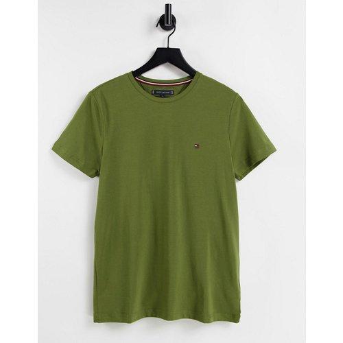 T-shirt slim avec petit logo sur l'avant - foncé - Tommy Hilfiger - Modalova
