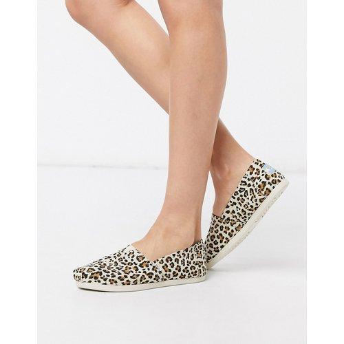 Alpargata - Chaussures plates vegan - Imprimé léopard - TOMS - Modalova