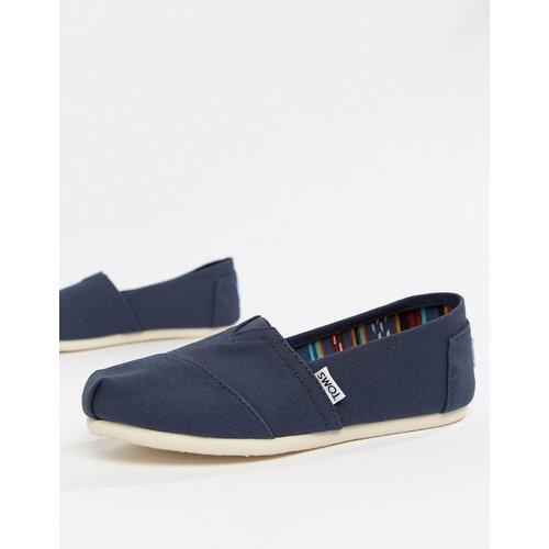 Chaussures plates classiques en toile - marine - TOMS - Modalova