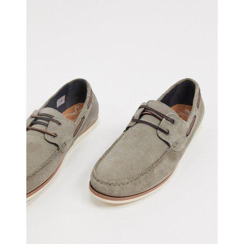 Chaussures bateau en daim - Topman - Modalova