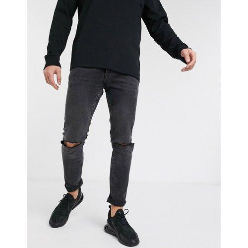 Jean skinny stretch à déchirures aux genoux - délavé - Topman - Modalova