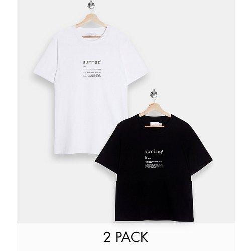 Lot de 2 t-shirts à imprimé saison - Topman - Modalova