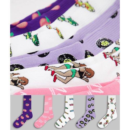 Lot de 5 paires de chaussettes tube - Topman - Modalova