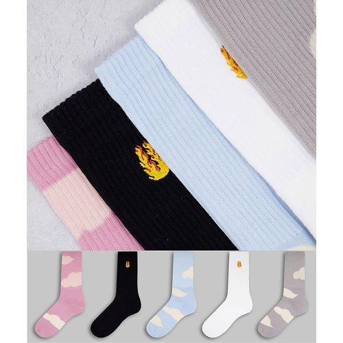 Lot de 5paires de chaussettes tubes - Topman - Modalova